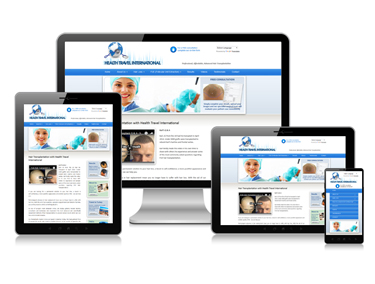 Health services website design